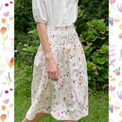 ELLA SKIRT IN WATER FLOWER PRINT