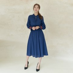 MELISSA SMOCKING DRESS IN NAVY
