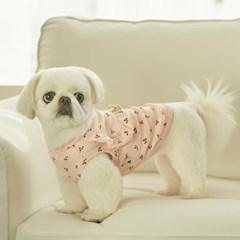 체리 프릴 강아지 실내복 (핑크)