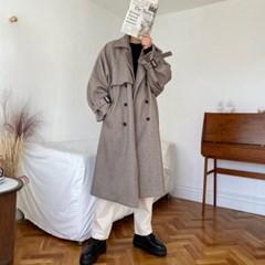 프리미엄 헤링본 더블 울 바바리 코트 2color