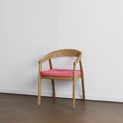 [오크] R형 의자 핑크