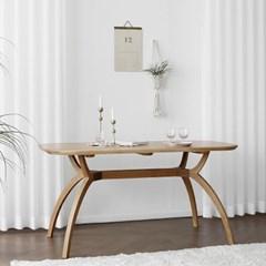 [오크] SEMI 하이엔드 A형 커브식탁/테이블 : 화이트오_(1671796)