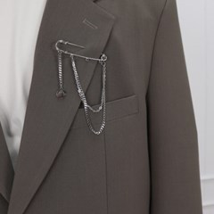 남자 체인 브로치 써지컬스틸 스트릿 패션 CLEF W Broch