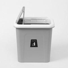 싱크대걸이식 슬라이드 쓰레기통(7L) 냄새차단 휴지통