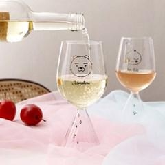 카카오프렌즈 어드벤쳐 와인잔 2P 세트