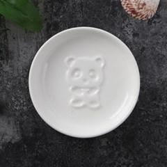푸드냠냠 도자기 입체 소스그릇(원형 판다D)