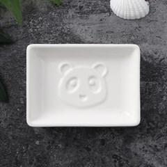 푸드냠냠 도자기 입체 소스그릇(사각 판다C)