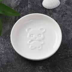 푸드냠냠 도자기 입체 소스그릇(원형 판다A)