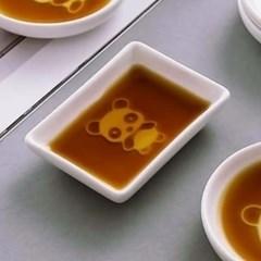 푸드냠냠 도자기 입체 소스그릇(사각 판다A)
