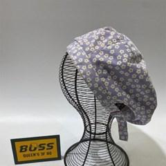 꽃무늬 플라워 민트 데일리 패션 꾸안꾸 베레모 모자