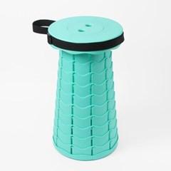 아코디언 폴딩 의자(민트)/ 캠핑 휴대용 접이식의자