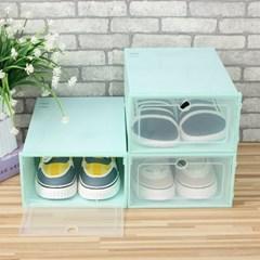 슈박스 신발정리함 3p(소) (민트)/ 조립식 슈케이스