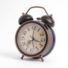 블랙 앤틱 해머벨 탁상시계(심플)/아날로그 알람시계