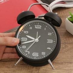 모던 해머벨 탁상시계(블랙) / 아날로그 알람시계