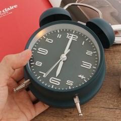 모던 해머벨 탁상시계(네이비) / 아날로그 알람시계