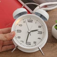 모던 해머벨 탁상시계(화이트) / 자명종시계