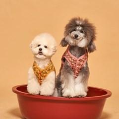 꽃무늬 김장룩 강아지옷 조끼 3color
