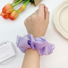 [3개세트][3color] 연두 보라 라벤더 꽃 플라워 곱창 머리끈 세트