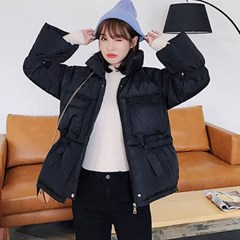겟잇미 (당일배송) 하이넥 반카라 심플 패딩점퍼
