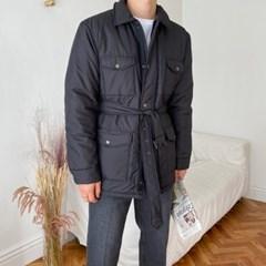 SP 6온스 누빔 퀄팅 벨트 패딩 자켓 4color