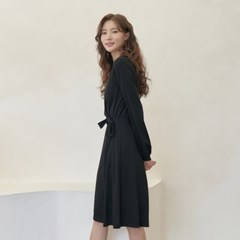 BLACK WRAP DRESS