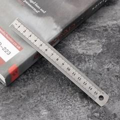 양면 눈금 스틸자(15cm)