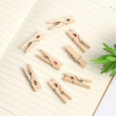 사진 메모걸이 미니 나무집게 100p세트(3.5cm)