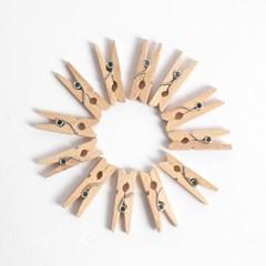 사진 메모걸이 미니 나무집게 100p세트(2.5cm)