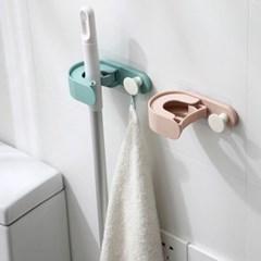 파스텔 멀티 홀더 밀대 막대걸레 걸이 청소도구걸이 벽걸이 홀더
