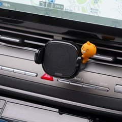 카카오 정품 라이언 차량용 고속 무선 충전기 거치대