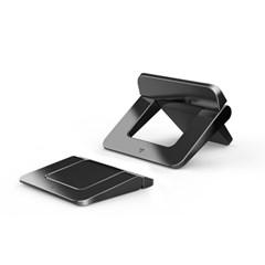 ABS 컴팩트 접이식 노트북 퀵 스탠드 받침대 2P 블랙 LC-249