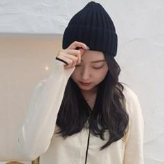 심플 기본 블루 그린 데일리 패션 비니 와치캡 모자