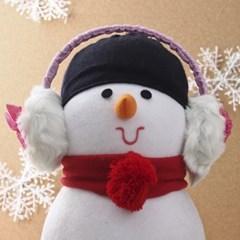 도트 리본 귀마개(핑크) / 겨울용 털귀마개