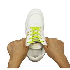 매듭없는 고탄력 운동화끈(네온)/ 늘어나는 신발끈