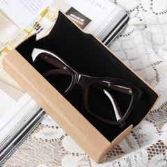 원목무늬 하드 안경케이스(브라운) / 선글라스케이스