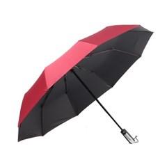 방풍 3단 완전자동 양산겸 우산(레드)/ 암막우산