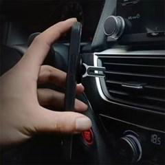 차량 송풍구거치 스마트링(블랙)/ 각도조절 핸드폰링