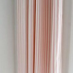 메르시 스트라이프 커튼 - 핑크