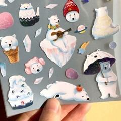 씰스티커 - 낭만북극곰