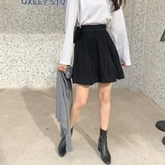 겟잇미 플레어 니트 허리밴딩 스커트