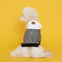 플로트 체크후드 강아지옷 블랙
