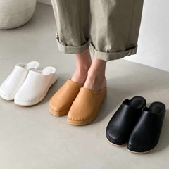 kami et muse Platform low wedge slippers_KM20w331