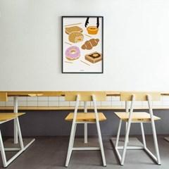 빵 고르기 M 유니크 인테리어 디자인 포스터 베이커리 카페