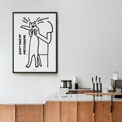 고양이 사진찍기 M 유니크 인테리어 디자인 포스터 동물