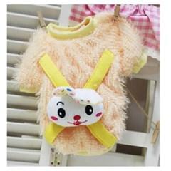 애견 티셔츠 토끼배낭 옐로우 L 1P 강아지옷 애견옷