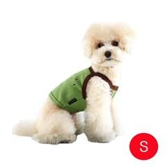 강아지 후르츠 크롭 티셔츠 그린 S