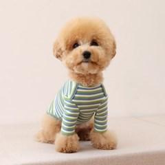 [쉬오트]코지 스트라이프 티셔츠 (핑크&블루)