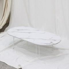 타원형 접이식 테이블 120x60cm