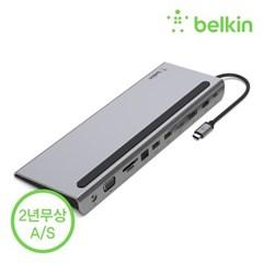 벨킨 USB-C타입 11in1 멀티 포트 허브 독 INC004bt