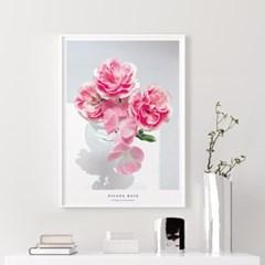 로제 모란 목단 꽃 그림 인테리어 액자
